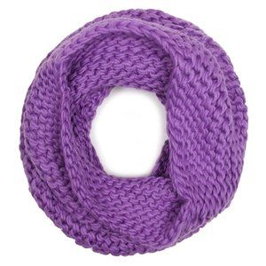 Code22 Soft Solid Knit Neck Warmer Infinity Scarf